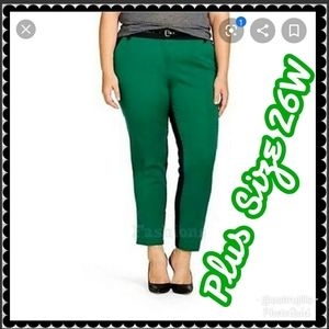 🆕️ NWT Ava & Viv Plus Size Color Block Crop Pants
